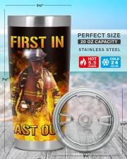 Firefighter First In Last Out Personalized 20oz Tumbler aos-20oz-tumbler-lifestyle-front-47
