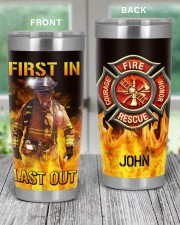 Firefighter First In Last Out Personalized 20oz Tumbler aos-20oz-tumbler-lifestyle-front-59