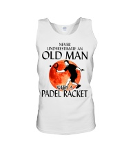 Never Underestimate An Old Man With A Padel Racket Unisex Tank thumbnail