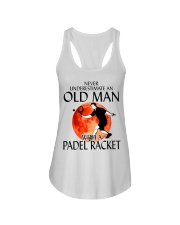 Never Underestimate An Old Man With A Padel Racket Ladies Flowy Tank thumbnail