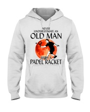 Never Underestimate An Old Man With A Padel Racket Hooded Sweatshirt thumbnail