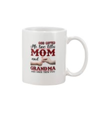God Gifted Me Two Titles Mom And Grandma Mug thumbnail