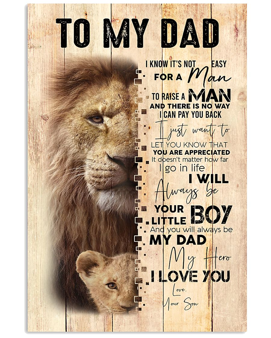 To My Dad From Son Lion 24x36 Poster