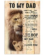 To My Dad From Son Lion 24x36 Poster front