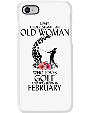 Never Underestimate Old Woman Golf February Phone Case tile
