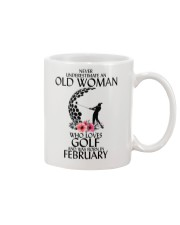 Never Underestimate Old Woman Golf February Mug thumbnail
