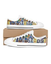 AUGUST 9 LICENSE PLATES Women's Low Top White Shoes inside-right-outside-right