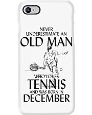 Never Underestimate Old Man Loves Tennis December Phone Case thumbnail