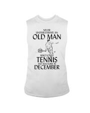 Never Underestimate Old Man Loves Tennis December Sleeveless Tee thumbnail