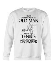 Never Underestimate Old Man Loves Tennis December Crewneck Sweatshirt thumbnail