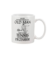 Never Underestimate Old Man Loves Tennis December Mug thumbnail