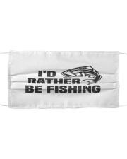 Id rather be fishing bass fish funny fisherman  Cloth face mask thumbnail
