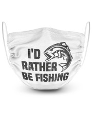 Id rather be fishing bass fish funny fisherman  2 Layer Face Mask - Single front