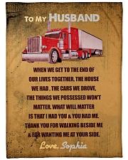 "Trucker To Husband Personalized Christmas Gift Large Fleece Blanket - 60"" x 80"" front"