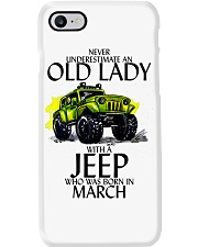 Never Underestimate Old Lady Jeep March Phone Case thumbnail