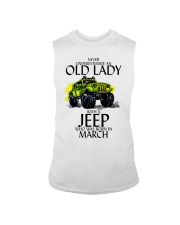 Never Underestimate Old Lady Jeep March Sleeveless Tee thumbnail