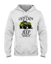 Never Underestimate Old Lady Jeep March Hooded Sweatshirt thumbnail