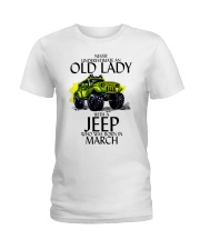 Never Underestimate Old Lady Jeep March Ladies T-Shirt thumbnail