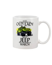 Never Underestimate Old Lady Jeep March Mug thumbnail