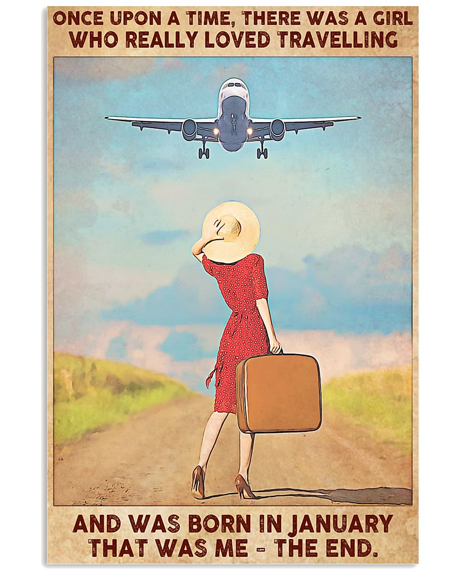 Girl Loves Travelling Born In January 24x36 Poster
