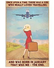 Girl Loves Travelling Born In January 24x36 Poster front