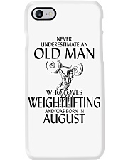 Never Underestimate Old Man Weightlifting August Phone Case thumbnail