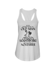 Never Underestimate Old Man Mountain Bike November Ladies Flowy Tank thumbnail