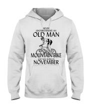 Never Underestimate Old Man Mountain Bike November Hooded Sweatshirt thumbnail