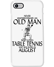 Never Underestimate Old Man Table Tennis August Phone Case thumbnail