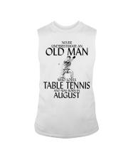 Never Underestimate Old Man Table Tennis August Sleeveless Tee thumbnail