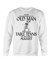 Never Underestimate Old Man Table Tennis August Crewneck Sweatshirt thumbnail