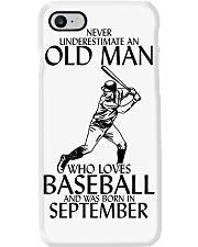Never Underestimate Old Man Baseball September Phone Case thumbnail