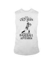 Never Underestimate Old Man Baseball September Sleeveless Tee thumbnail
