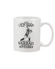 Never Underestimate Old Man Baseball September Mug thumbnail