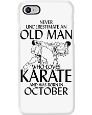 Never Underestimate Old Man Karate October Phone Case thumbnail