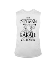 Never Underestimate Old Man Karate October Sleeveless Tee thumbnail