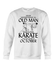 Never Underestimate Old Man Karate October Crewneck Sweatshirt thumbnail