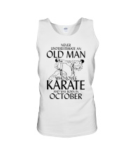 Never Underestimate Old Man Karate October Unisex Tank thumbnail