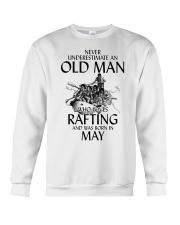 Old Man Loves Rafting May Crewneck Sweatshirt thumbnail