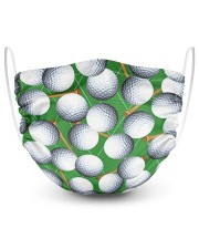 Golf Fabric 2 Layer Face Mask - Single front