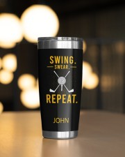Swing Swear Repeat Golf Personalized 20oz Tumbler aos-20oz-tumbler-lifestyle-front-04