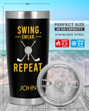 Swing Swear Repeat Golf Personalized 20oz Tumbler aos-20oz-tumbler-lifestyle-front-47