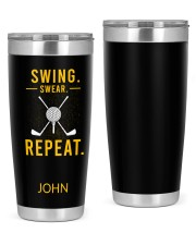 Swing Swear Repeat Golf Personalized 20oz Tumbler front