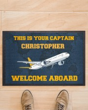 "Airplane Welcome Aboard  Doormat 22.5"" x 15""  aos-doormat-22-5x15-lifestyle-front-02"