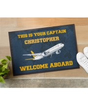 "Airplane Welcome Aboard  Doormat 22.5"" x 15""  aos-doormat-22-5x15-lifestyle-front-11"