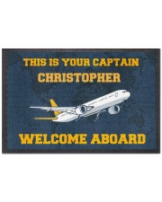 "Airplane Welcome Aboard  Doormat 22.5"" x 15""  front"