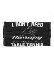 Table Tennis I Don't Need Therapy Mask tile
