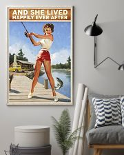Fishing And She lived happily ever after 24x36 Poster lifestyle-poster-1