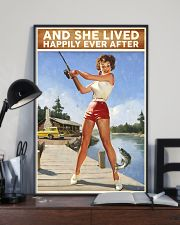 Fishing And She lived happily ever after 24x36 Poster lifestyle-poster-2