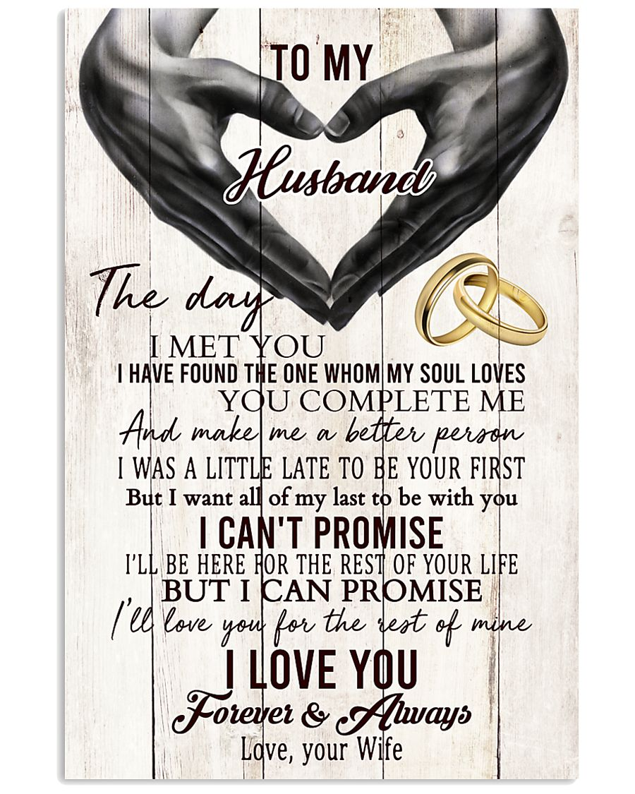 To My Husband The One Whom My Soul Loves 24x36 Poster